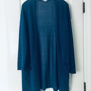J Jill Linen Blend Duster Cardigan- Like New